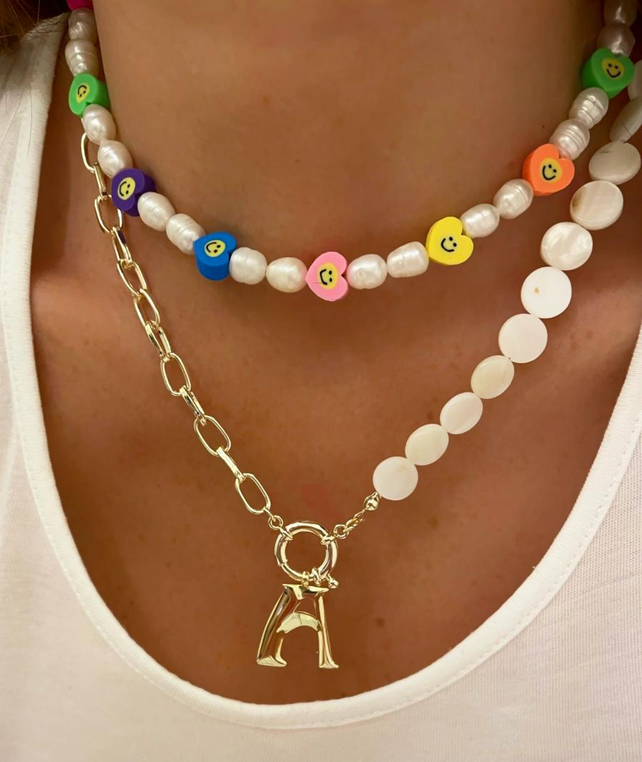 Initial Pearl Necklace